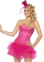 Adult Burlesque Corset and Layered Tutu Costume