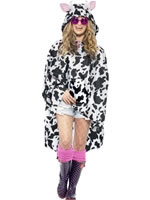 Cow Party Poncho Festival Costume