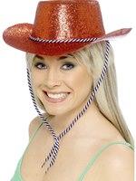 Cowboy Glitter Hat Red Pvc [21369]