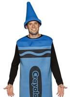 Adult Male Blue Crayola Crayons Costume