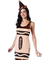 Adult Crayola Crayons Bronze Tank Dress Costume