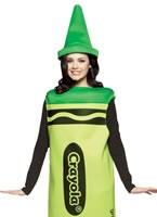 Adult Ladies Green Crayola Crayons Costume