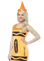 Crayola Crayons Neon Orange Tank Dress Costume [4451121]