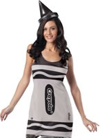 Adult Crayola Crayons Silver Tank Dress Costume