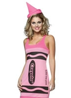 Adult Crayola Crayons Tickle Pink Tank Dress Costume