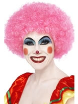 Crazy Clown Pink Wig