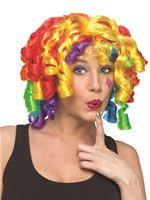Adult Crazy Curlz Clown Wig [92201]