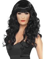 Adult Black Siren Wig