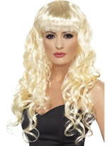 Curly Siren Wig Blonde [42259]