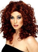 Curly Sitcom Star Wig Auburn