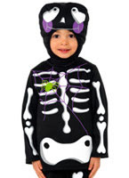 Cute Skeleton Childrens Costume [35645]