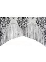 Damask Lace Skull Curtain Decoration