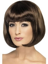 Dark Brown Partyrama Wig [42394]