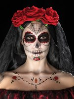 Day of the Dead Face Tattoos Transfer Kit [41570]