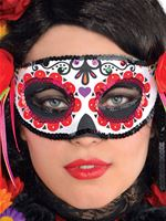 Day of The Dead Fashion Half Mask [843926-55]