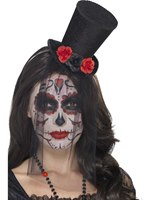 Adult Day of the Dead Mini Top Hat [44652]