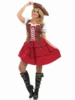 Adult Deck Hand Pirate Girl Costume