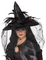 Adult Deluxe Black Witch Hat [33786]