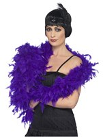 Deluxe Boa Purple Feather
