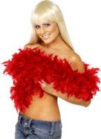 Deluxe Boa Red Feather