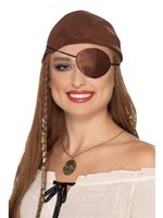 Deluxe Brown Satin Pirate Eye Patch
