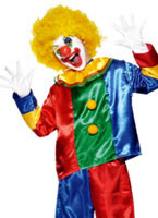 Deluxe Clown Brightly Coloured Childrens Costume
