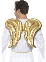Deluxe Gold Fabric Wings