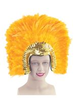 Deluxe Gold Feather Headdress [BA637]