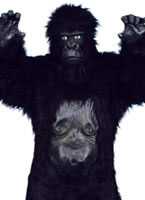 Adult Deluxe Gorilla Costume Black [24230]
