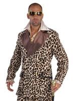 Deluxe Leopard Print Pimp Costume [212208]