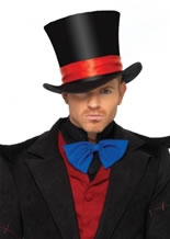 Deluxe Mens Velvet Top Hat [2143]