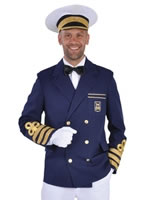 Adult Deluxe Navy Captains Jacket [212207]