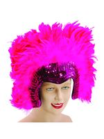 Deluxe Pink Feather Headdress [BA816]