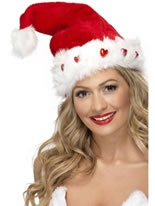 Deluxe Plush Light-Up Santa Hat