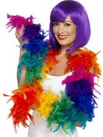 Deluxe Rainbow Feather Boa