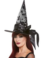 Deluxe Reversible Sequin Witch Hat [61125]