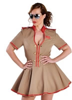 Deluxe Russian Army Girl Costume