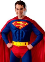 Adult Deluxe Superman Muscle Chest Costume [888016]