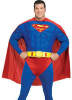 Plus Size Deluxe Superman Muscle Chest  Costume [17487]