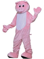 Adult Deluxe Pig Mascot Costume [62259]