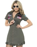 Deluxe Top Gun Female Costume