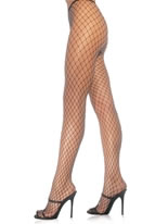 Diamond Net Tights in Black