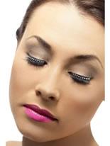 Diamonte Eyelashes With Adhesive Black