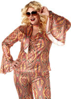 Adult Plus Size Discolicious Costume