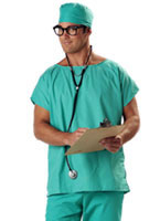 Adult Doctor Scrubs Costume [01027]