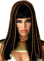 Egyptian Princess Decorative Black Wig