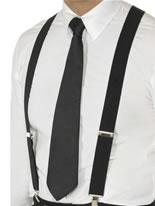Elasticated Braces Black [25987]
