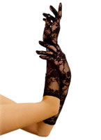 Elbow Stretch Lace Gloves