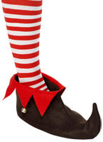 Adult Brown & Red Elf Shoes [33319]