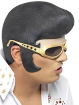 Elvis Headpiece Black And Gold [29154]